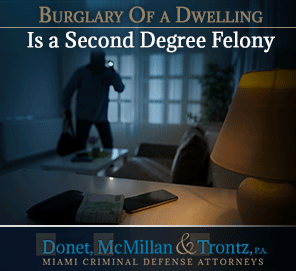 Picture of a Burglary Being Commited, Which Is a Second Defree Felony in the Florida Criminal Law System